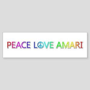Peace Love Amari Bumper Sticker