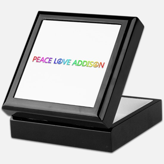 Peace Love Addison Keepsake Box