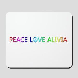 Peace Love Alivia Mousepad