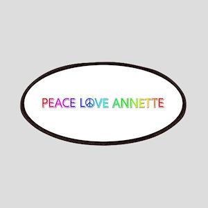 Peace Love Annette Patch