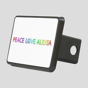 Peace Love Alexia Rectangular Hitch Cover