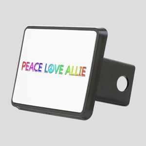 Peace Love Allie Rectangular Hitch Cover