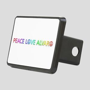 Peace Love Alvaro Rectangular Hitch Cover