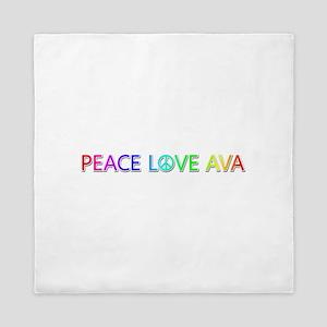Peace Love Ava Queen Duvet