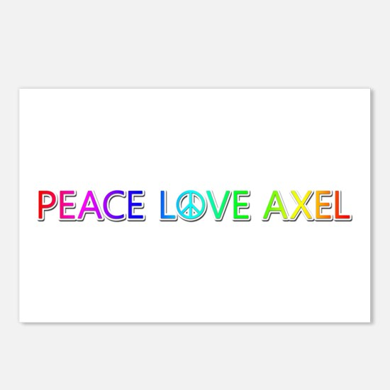 Peace Love Axel Postcards 8 Pack