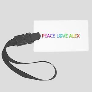 Peace Love Alex Large Luggage Tag