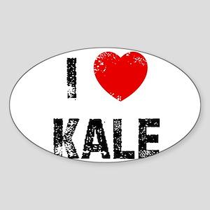 I * Kale Oval Sticker