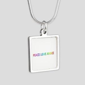 Peace Love Annie Silver Square Necklace