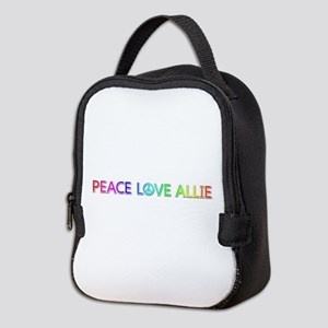 Peace Love Allie Neoprene Lunch Bag