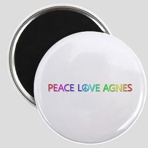 Peace Love Agnes Round Magnet