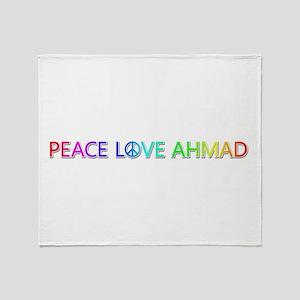 Peace Love Ahmad Throw Blanket