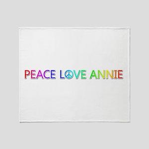 Peace Love Annie Throw Blanket