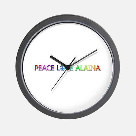 Peace Love Alaina Wall Clock
