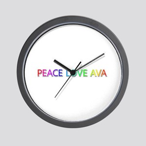 Peace Love Ava Wall Clock