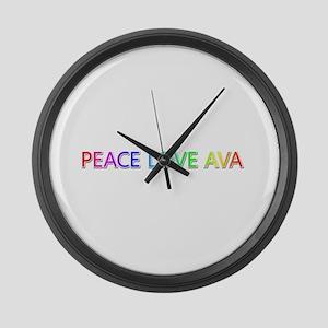 Peace Love Ava Large Wall Clock