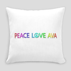 Peace Love Ava Everyday Pillow