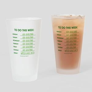 GO GOLFING Drinking Glass