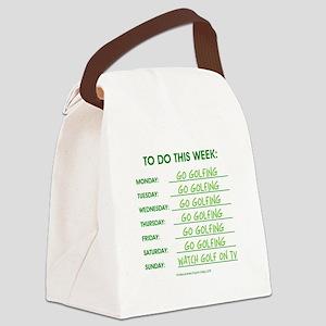 GO GOLFING Canvas Lunch Bag