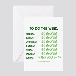 GO GOLFING Greeting Cards