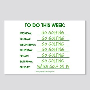 GO GOLFING Postcards (Package of 8)