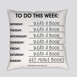 READ A BOOK Everyday Pillow