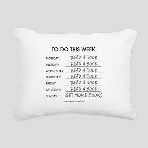 READ A BOOK Rectangular Canvas Pillow