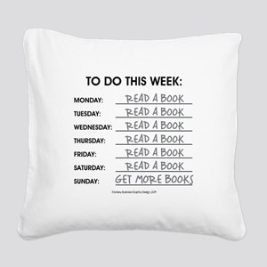 READ A BOOK Square Canvas Pillow