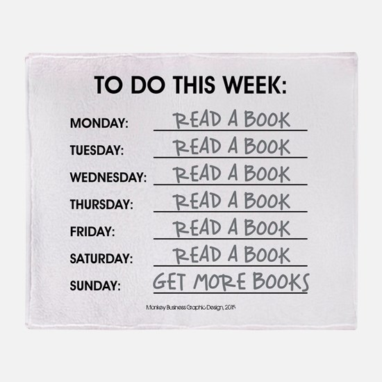 READ A BOOK Throw Blanket