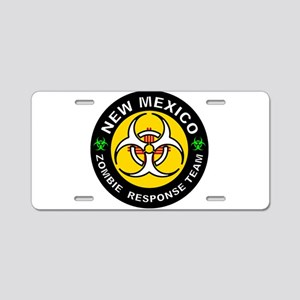 NM ZRT White Aluminum License Plate
