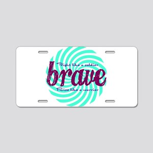 Brave Aluminum License Plate