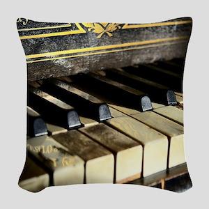 Vintage Piano Woven Throw Pillow