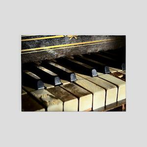 Vintage Piano 5'x7'Area Rug