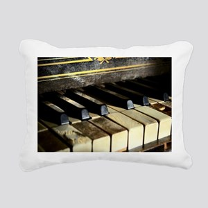 Vintage Piano Rectangular Canvas Pillow