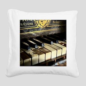 Vintage Piano Square Canvas Pillow