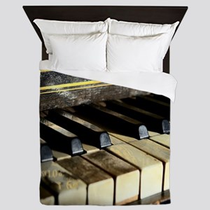 Vintage Piano Queen Duvet