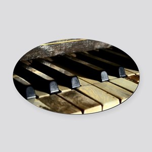 Vintage Piano Oval Car Magnet