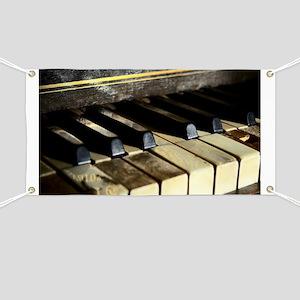 Vintage Piano Banner