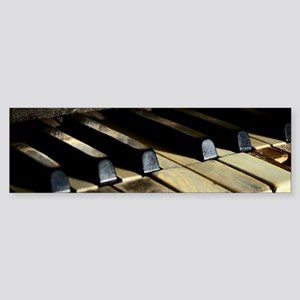 Vintage Piano Bumper Sticker