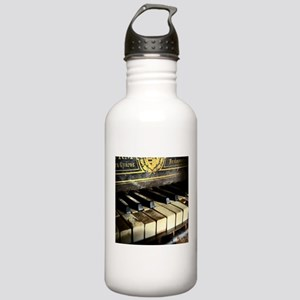 Vintage Piano Sports Water Bottle