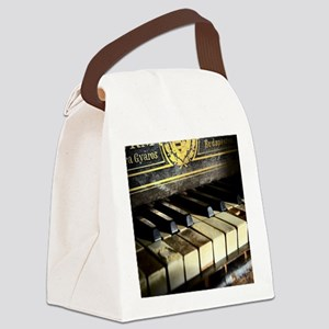 Vintage Piano Canvas Lunch Bag