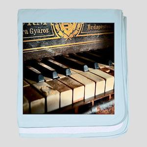 Vintage Piano baby blanket