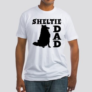 SHELTIE DAD Fitted T-Shirt