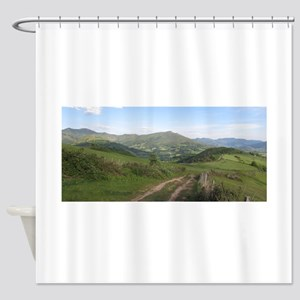 Pyrenees Camino Trail Shower Curtains