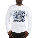 faded blue marijuana leaf Long Sleeve T-Shirt