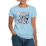 faded blue marijuana leaf T-Shirt