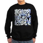 faded blue marijuana leaf Sweatshirt
