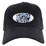 faded blue marijuana leaf Baseball Hat