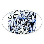 faded blue marijuana leaf Sticker