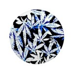 faded blue marijuana leaf Button