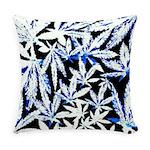 faded blue marijuana leaf Everyday Pillow